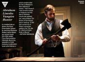 MEDIA - ABRAHAM LINCOLN  CHASSEUR DE VAMPIRES  - Une photo dans Entertainment Weekly